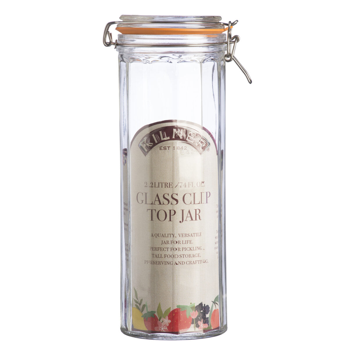 Kilner Facetted Clip Top Jar 2.2 Litre
