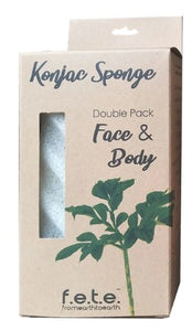 F.E.T.E Natural Konjac Face and Body Sponge - Double Pack