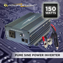 Load image into Gallery viewer, PowerBright Pure Sine Power Inverter 150 Watt image of 150 watts pure sine power inverter