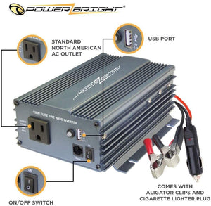 PowerBright Pure Sine Power Inverter 150 Watt image of user manual