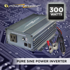 PowerBright Pure Sine Power Inverter 300 Watt image of 300 Watts pure sine power inverters
