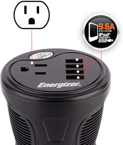 Energizer 150 Watt Cup Inverter image of 9.6A compatible USB