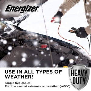 "Energizer 6 Gauge Jumper Battery Cables 16 Ft use in all types of weather even 40""C"
