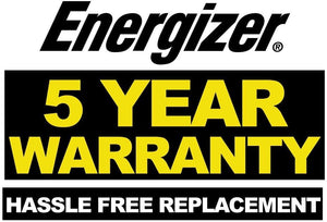 Energizer ENC8A 8-Amp Battery Charger 5 year warranty hassle free replacement