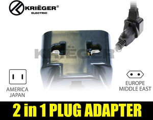 Krieger Plug Adapters 2-in-1 image of 2 in 1 plug adapter