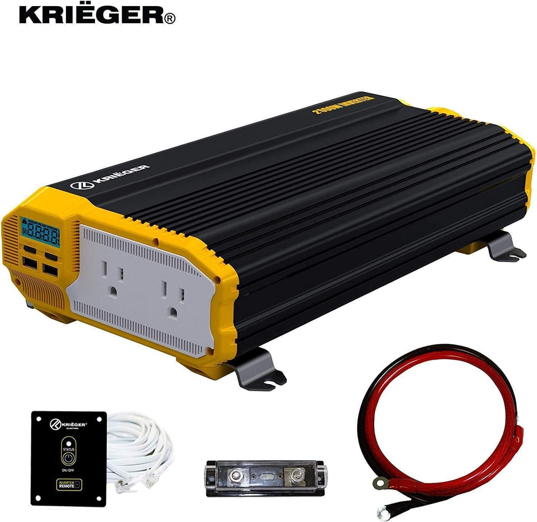 Krieger 2000 Watts Power Inverter 12V to 110V main image