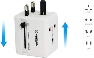 KRIEGER Universal Worldwide All-in-one Travel Charger Adapter Plug image of outlet type