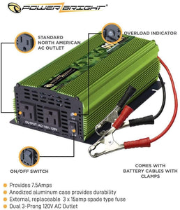 ML900 Power Bright 900 Watt 24V Power Inverter  image of features