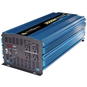 PowerBright PW3500-12 - 3500 Watt 12V DC to 110V AC power inverter with cables - Voltage Converters and transformers