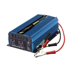 Load image into Gallery viewer, PowerBright PW900-12 - 900 Watt 12V DC to 110V AC power inverter with cables - Voltage Converters and transformers