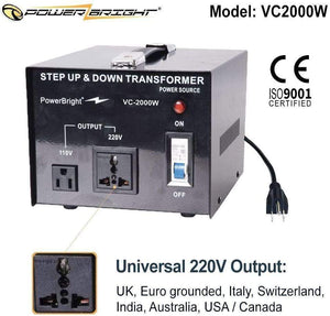 VC2000W PowerBright 2000 Watts image of universal outputl