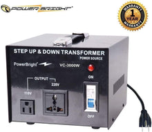 Load image into Gallery viewer, VC3000W PowerBright 3000 Watts Voltage Transformer main image