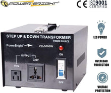 Load image into Gallery viewer, VC3000W PowerBright 3000 Watts Voltage Transformer image of product inclusion