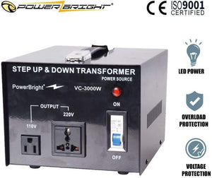 VC3000W PowerBright 3000 Watts Voltage Transformer image of product inclusion