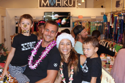 The Mahiku Founders Ingo Rademacher, Ehiku Rademacher and their Sons