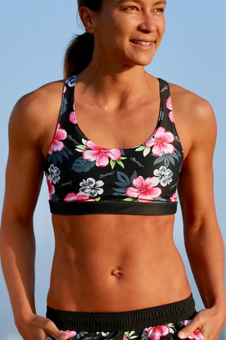 Waiuli Caged Back Sport Bra