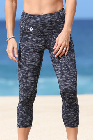 Tech Pineapple Capri- Charcoal Heather