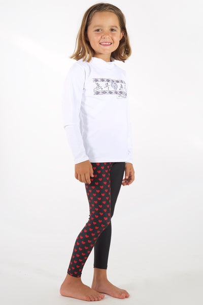 Kids Valentine Legging