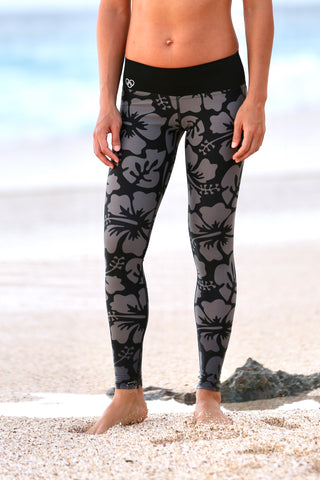 Black/Grey Aloha YOGA Legging