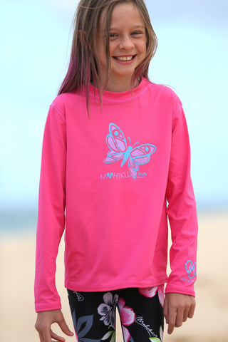 Junior & Toddler Rash Guard UPF50+(Pink)