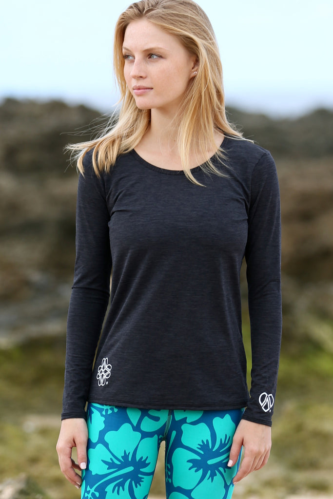 Women's TECH Long Sleeve Shirt- Charcoal