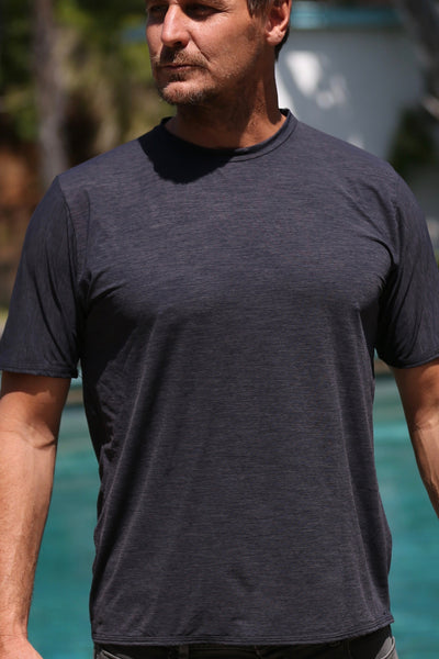 Men's Short Sleeve TECH Shirt - Charcoal Black