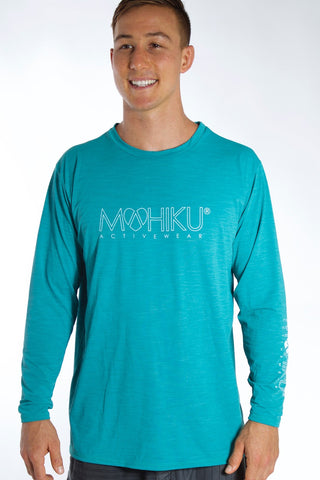 Men's Long Sleeve TECH Shirt - Teal Green
