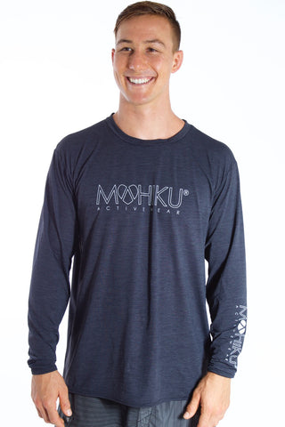 Men's Long Sleeve TECH Shirt - Charcoal Black