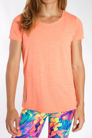 Women's TECH Short Sleeve Shirt - Coral