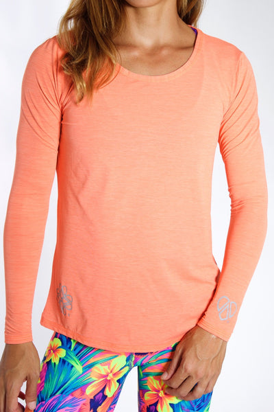 Women's TECH Long Sleeve Shirt - Coral