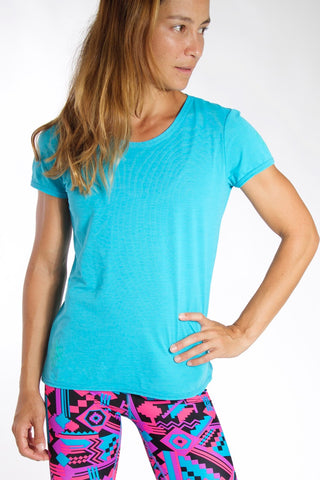 Women's TECH Short Sleeve Shirt - Sky Blue
