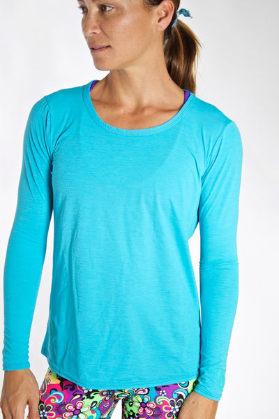 Women's TECH Long Sleeve Shirt - Sky Blue