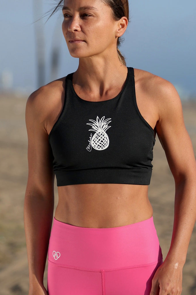High-Neck Pineapple Bralette