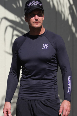 Men's Long Sleeve Rash Guard (Black)