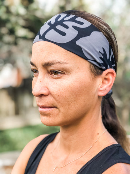 Black/Grey Aloha Headband