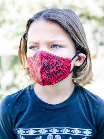 KIDS RED SNAKE Face Mask
