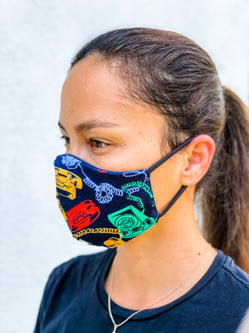 Telephone Reversible Face Mask