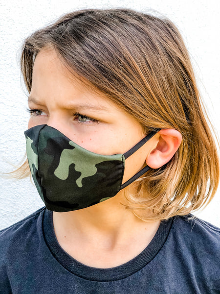 KIDS Camo Face Mask