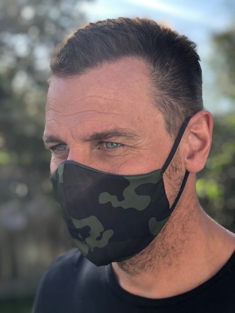 Army Green Face Mask