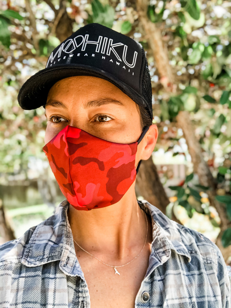 Army RED Face Mask