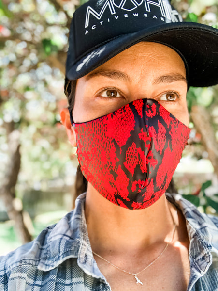 SNAKE RED Face Mask