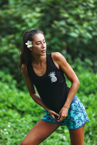 Everyday Pineapple Tank-Black