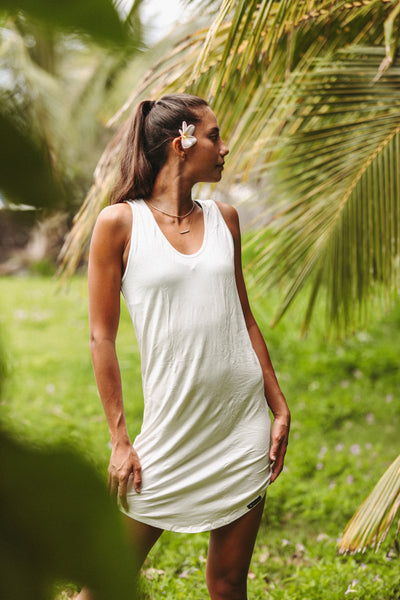 Breathe Tank Dress- IVORY