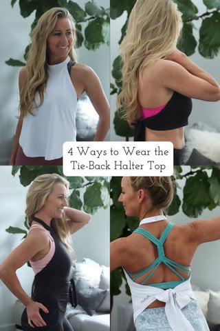 4 different ways to wear a tie back halter top