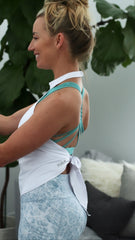 White Tie Back Halter Top for Working Out!