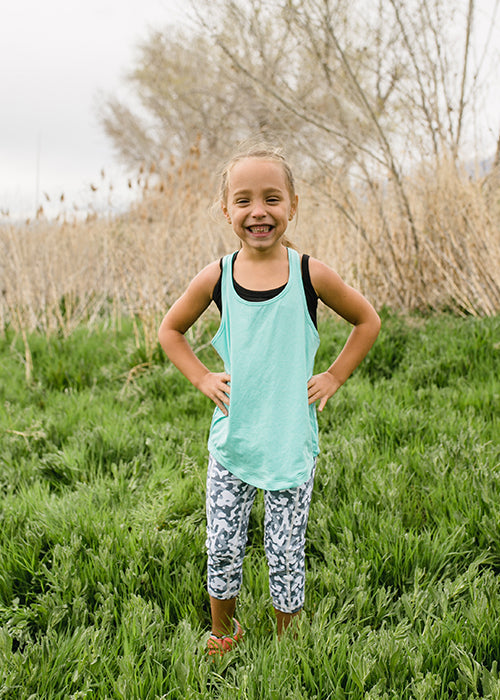 KIDS Pebble Capri - [Luxe Fabric] - Last Chance Item