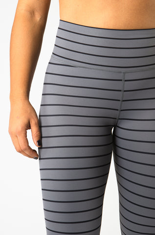 Striped Capri & Legging in Grey and Black [Luxe Fabric]