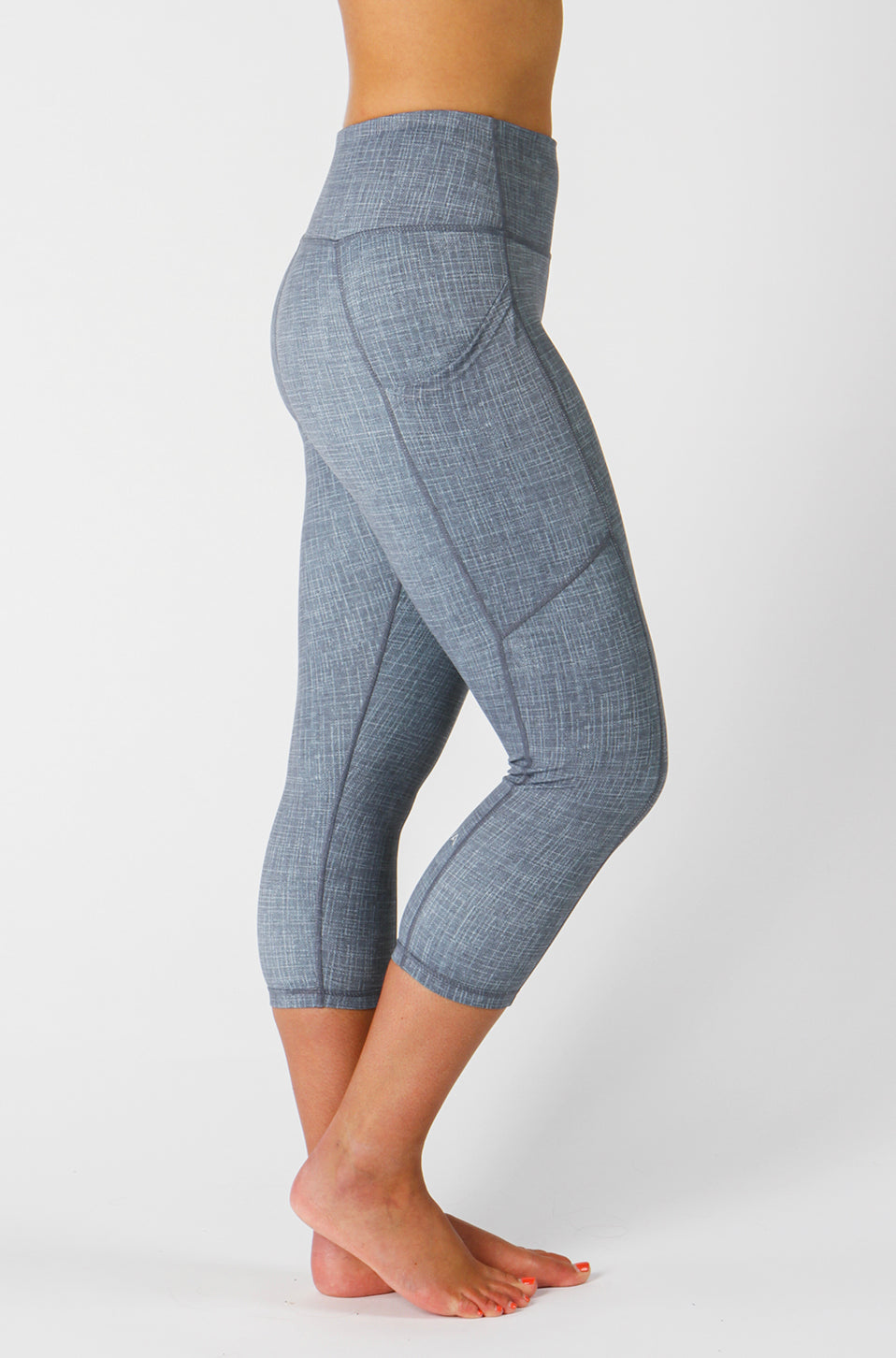 Grey Linen Capri & Legging