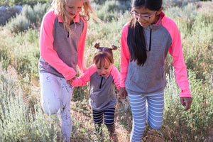 KIDS Striped Legging - Grey [Luxe Fabric]
