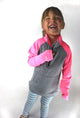 KIDS Half Zip - Pink - Last chance Item
